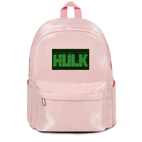 Confezione, zaino The Incredible Hulk Green wall logo poster rosa designer packaging personalizzato conveniente limited edition athleticbackpack