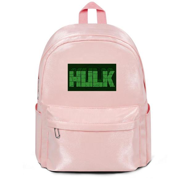 Paquet, sac à dos L'incroyable mur vert de Hulk affiche de designer rose designerpackpackage pratique édition limitée athlétique