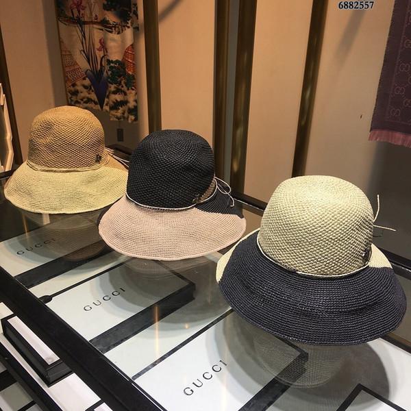 Sombrero de pescador Diseñador de lujo Capa de lavabo de tela de flores Casual Top plano Ancho Exterior Visera de protección solar
