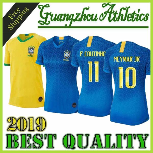 En 2019 Brezilya kadınlar futbol Formalar ev Brasil MARTA ADRIANA DEBINHA ANDRESSA 19 20 jersey 2020 formalarını