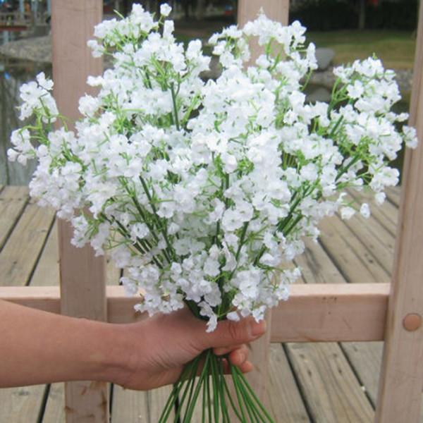 Gypsophila flores artificiales novia partido decoración de la boda del ramo de la decoración de seda de tela imitación de flor de tela de seda