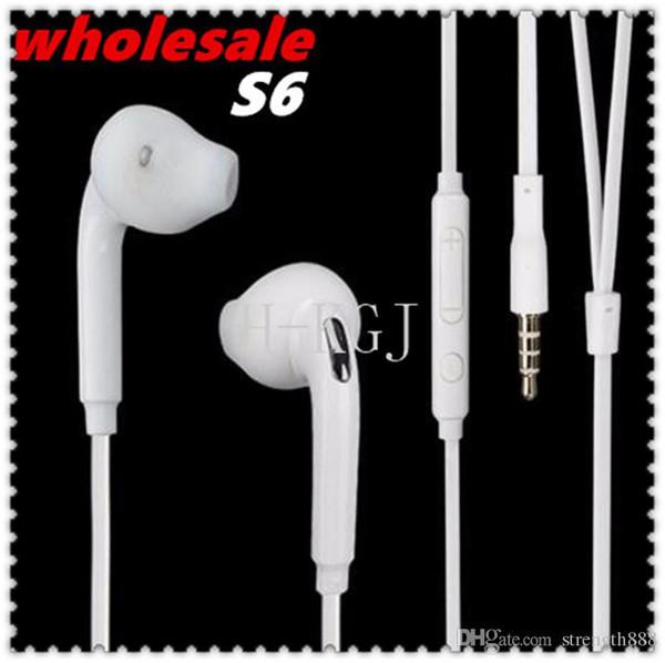 Venta caliente de nuevos auriculares de manos libres con micrófono en la oreja para Samsung GALAXY S3 S4 S6 Note Note3 N7100 MobilePhone Micrófono