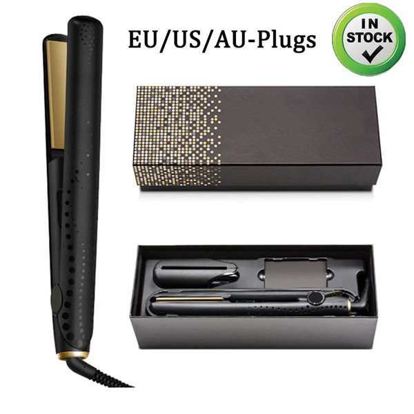 top popular In stock!!! V Gold Max Hair Straightener Classic Professional styler Fast Hair Straighteners Iron Hair StylingTool Top Quality 2020