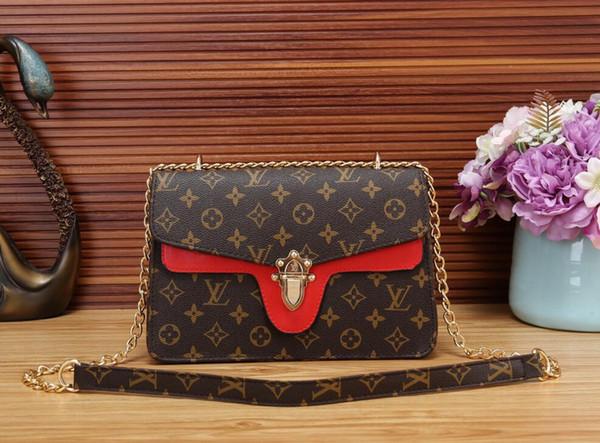 Diseño 2019 Bolso de mujer Bolso de mano para mujer Bolsos de embrague Bolso clásico de alta calidad Bolsos de mano de cuero de moda Bolsos de orden mixta etiqueta 36