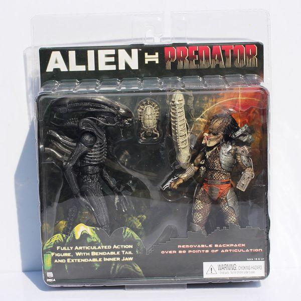 Neca Alien Vs Predator Tru Exclusive 2-pack Action Figure Toy Free Shipping Pvc C19041501