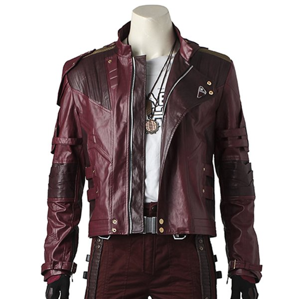 cosplay jackets Star Lord Costume Cosplay Jacket Guardians of The Galaxy 2 Peter Quill Leather Coat Pants Gloves Belt Props Outfit