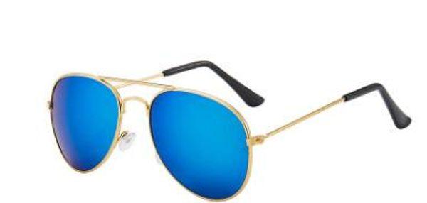 Moldura de ouro + azul