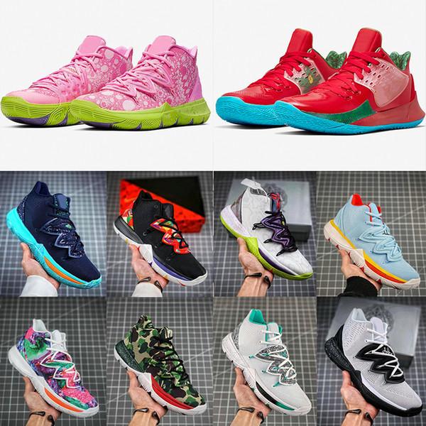 2020 Mens Kyrie V Basketball Shoes Sponge Bob Irving 5s Black Magic Egyptian Pharaoh 5 Zoom High Ankle Camouflage Sport Training Sneakers Girls