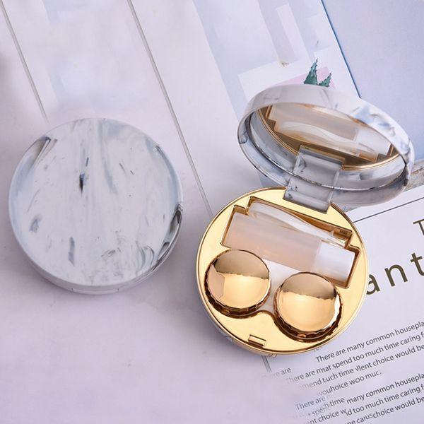 Netter Marble Streifen Kontaktlinse-Kasten-Reisen Gläser Objektive Box für Unisexaugenpflege-Set-Halter-Behälter-Support Geschenk Schöne