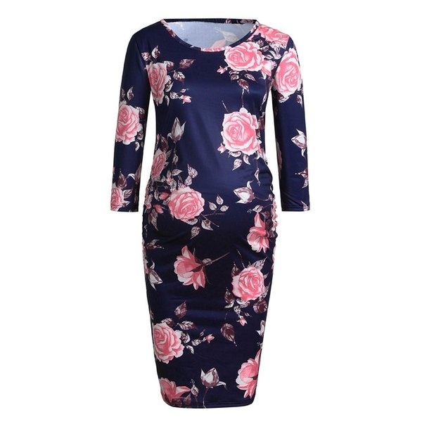 2019 Nursing Dress Women Elegant Flower Autumn Casual Breastfeeding Dress  For Feeding Maternity Pregnancy Clothes Plus Size 18jan16 From Lin_02, ...