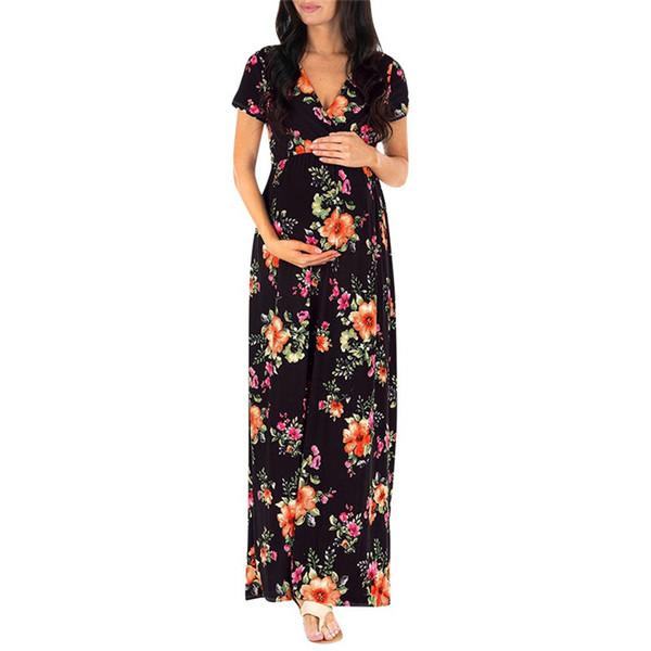 беременность платье женщин кормящих беременность платье цветочные печати материнства длинные фотографии одежда мать платье