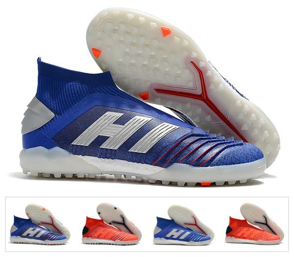 2019 Nuevo Predator 19+ TF EN IC PP Paul Pogba Hombres 19.1 Fútbol Fútbol Zapatos 19 + x 19 Cleats Boots tobillo alto tamaño barato 39-45