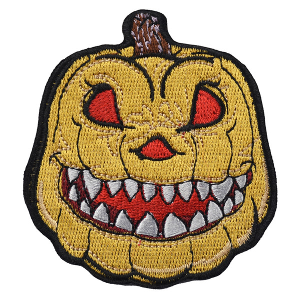 Embroidery Cartoon Pumpkin Lantern Iron On Patches For Shirt Hat Bag Applique 10 Pieces Free Shipping