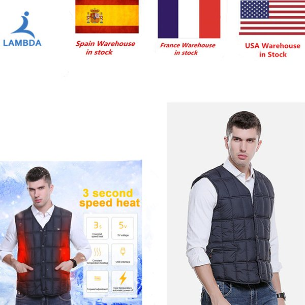 Men Women USB Infrared Heating Vest Jacket Winter Flexible Electric Thermal Clothing Waistcoat For Outdoor Sports Hiking Jogging