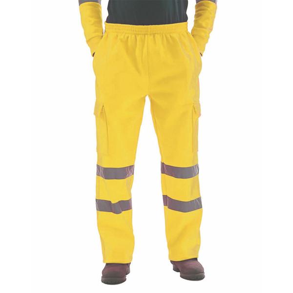 Homme Mode réfléchissant long Pantalon 2019 Nouveau Hip Hop Streetwear Pantalons Visibilité sécurité Worker Bas Pantalons Homme