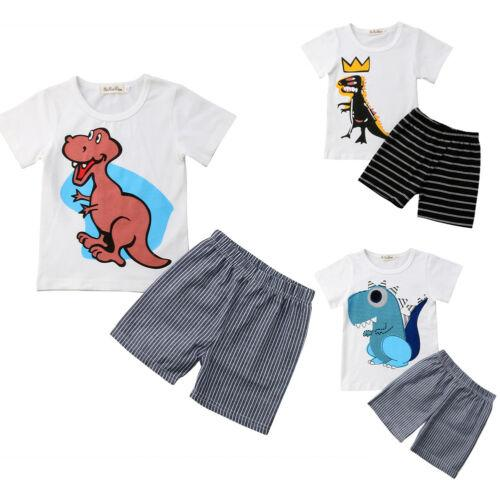 Kids Baby Boy Dinosaur Clothes Clothing Outfits Set Boys Outfit T-Shirt + Shorts Casual Clothing Cute Tiny Set Kids Baby Boy Dinosaur Clothes Clothing Outfits Set Boys Outfit T-Shirt + Shorts Casual Clothing Cute Tiny Set
