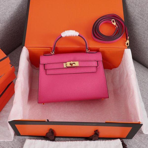 best selling Classic Designer Women Handbags Shoulder Bags Style Mini Strap Crossbody Tote Purse High Quality Genuine Leather Handbags freeshipping 19cm