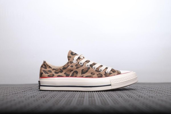 2019 brand new leopard print canvas shoes women's casual shoes skateboarding outdoor recreation casual shoes US5~US11