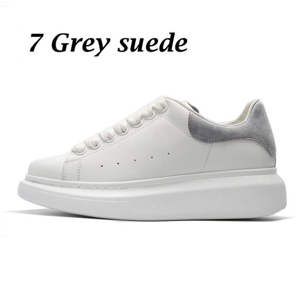 7 grey suede