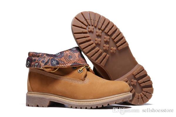 75fcaff281 Marca de lujo para hombre Para mujer Madera Trigo Alpinismo zapatos top  roll Botas de senderismo