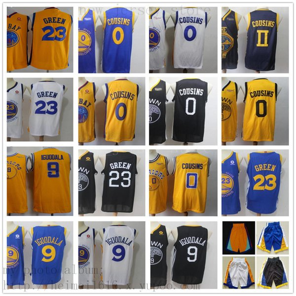 2019 Men City Warriors DeMarcus 0 Cousins Edition Jersey The Town Black  Draymond 23 Green Home Road Blue White Andre 9 Iguodala Basketball From