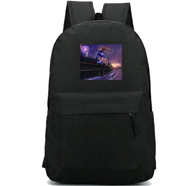 Spangled backpack Star kid girl school bag Super hero printing daypack Leisure schoolbag Outdoor rucksack Sport day pack