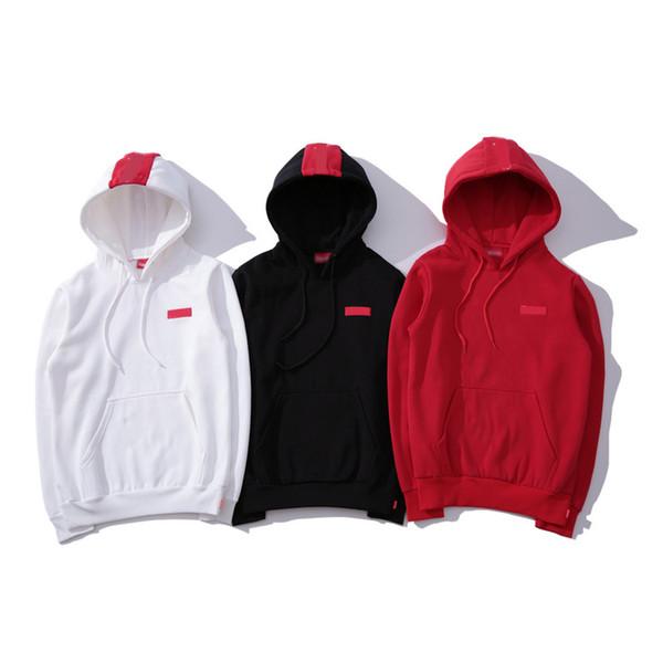 Acheter 19ss Suprême Designer Sweat À Capuche USA Marée Marque Mode Luxe Mens Hoodies Boîte Classique Logo Lettre Sweat Shirt En Coton De Haute