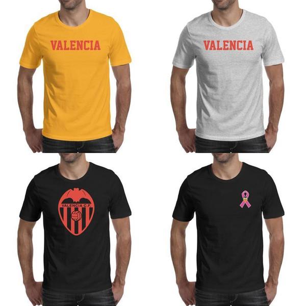 Fashion Mens Valencia CF Los Ches VCF Breast cancer powder female series black T shirts Design Printing Make a Band Shirts Classic red