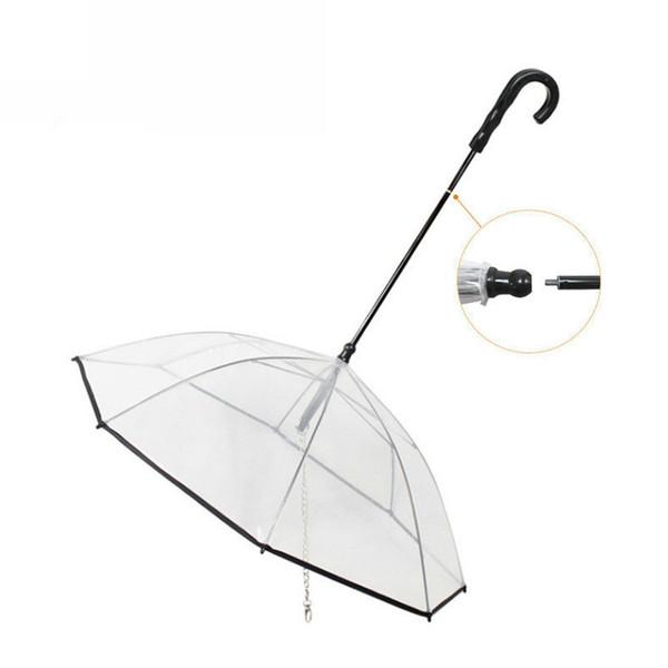 Pet Leash Transparent Umbrella Pet Supplies Assembly Detachable Umbrella Rainy Day Hyena Traction Rope Dogs Supplies