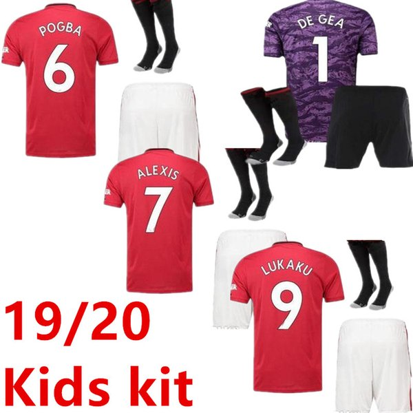 Kinder Trikots POBGA LINGARD 19 20 Fußball Trikots bis 2019 2020 RASHFORD-Fußball Trikot FRED-Trikot Torhüter