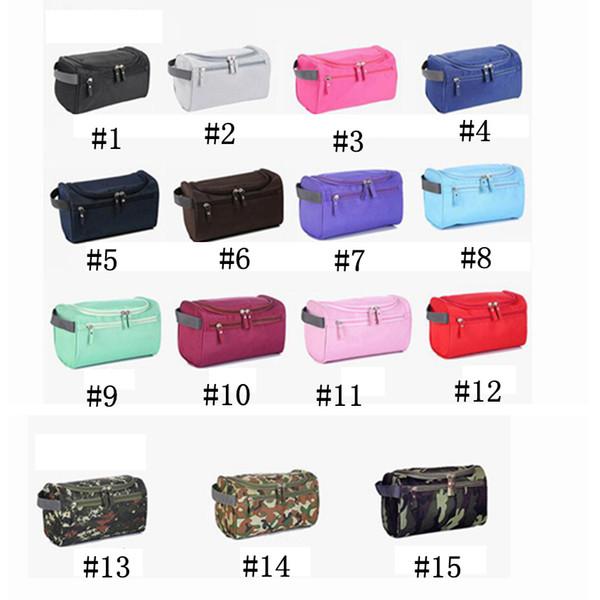 Borsa da viaggio da viaggio da uomo outdoor camouflage impermeabile di grande capacità di stoccaggio signore cosmetici borsa 15 colori LJJZ248
