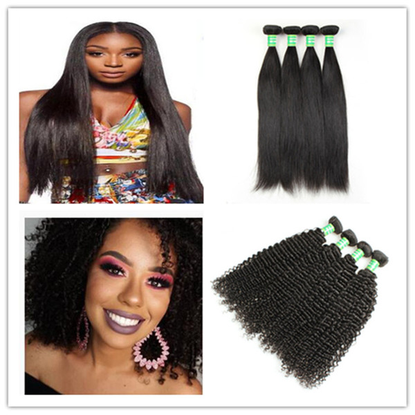 Brazilian Virgin Human Hair 8-28 inch Straight Wave Body Weaves Kinky Curly Cheap Human Remy Hair Extensions 3 Bundles J137