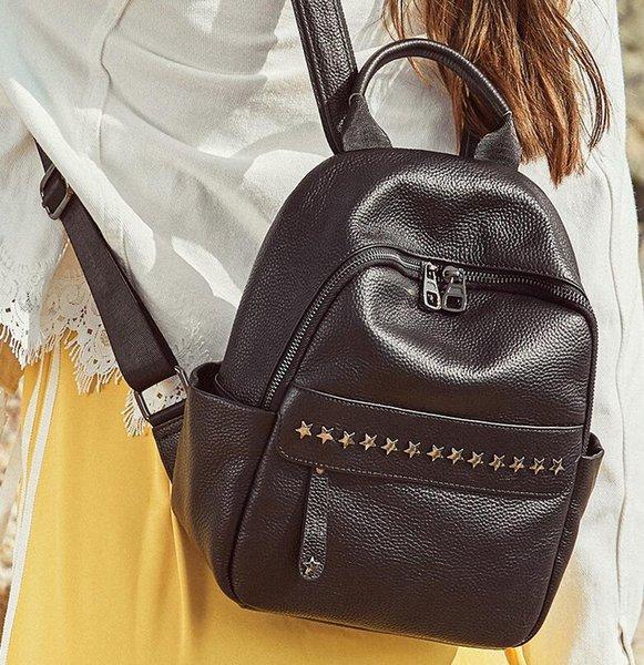 Wholesale Backpack Fashion Men Women Cheap Knapsack Shoulder Bags Brand Designer Stars High-end Genuine Leather School Bag