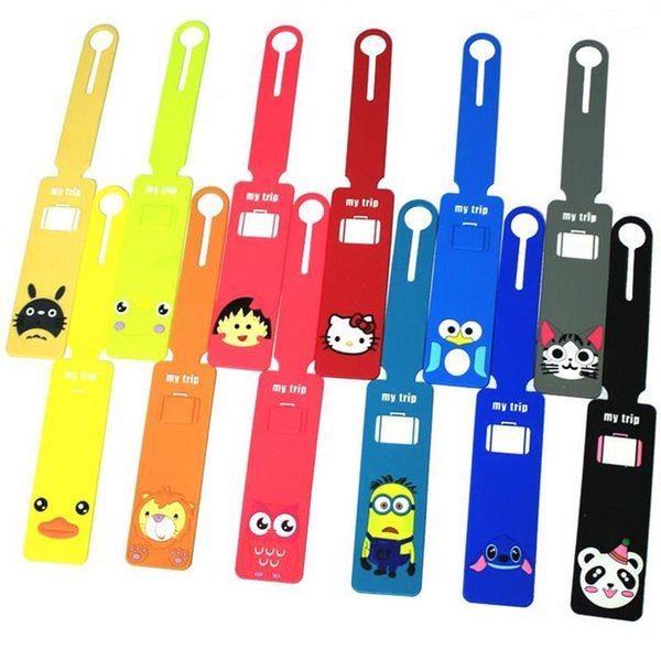 WOTUFLY 10Pcs Golf Bag Tags Cartoon Golf Tags Mini My Trip Nameplate 12 Colors For Man Women