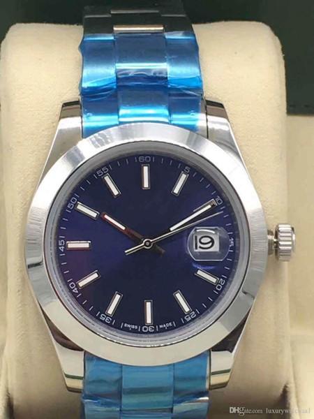 Hommes montres de luxe 18K Gold président Date de Juste Sapphire Cystal Genève 126334 en acier inoxydable Mouvement mécanique automatique Reloj Wristwatch