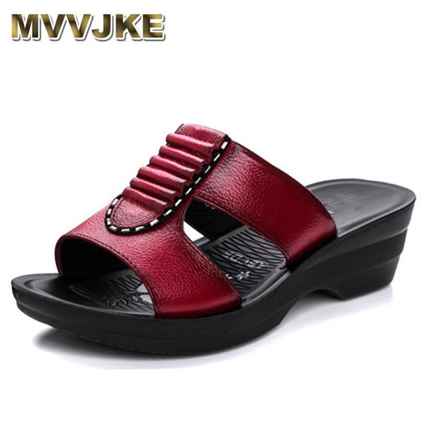 Toptan Yaz yeni anne terlik moda bayanlar terlik yumuşak ve rahat rahat büyük boy ayakkabı ile Kadın Eğim