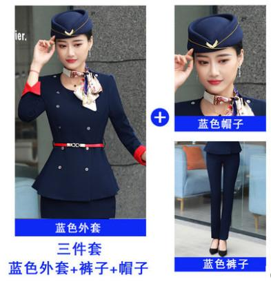Pantaloni stile blu scuro