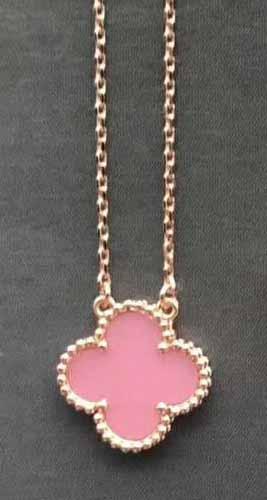 rose gold+pink necklace