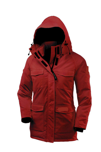 DHL Women Parkas WINTER CANADA Brand Constable-1 Down & Parkas WITH HOOD/Snowdome jacket Real wolf Collar White Duck/GOOSE Outerwear & Coats