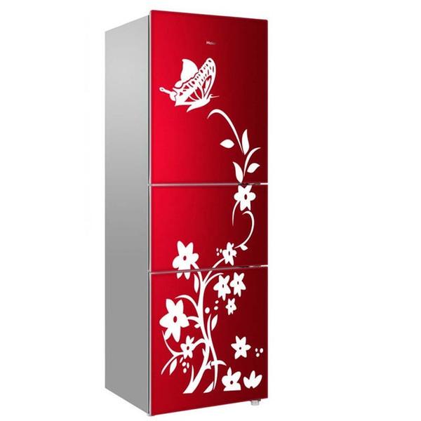 Refrigerador creativo de alta calidad Etiqueta negra Patrón de mariposa Pegatinas de pared Decoración del hogar Cocina Arte de la pared Decoración mural