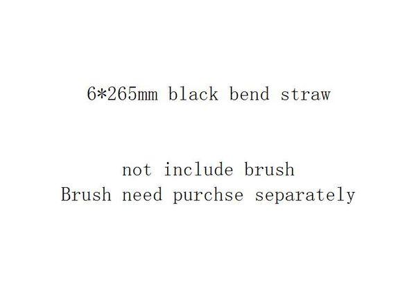 6 * 265mm أسود منحنى القش