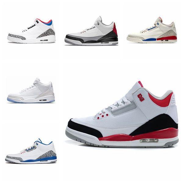 Nike Air jordan Günstige Herren 3s Schuhe 3 Blau Rot DJ Khaled Silber Wolf Grau Schwarz Zement J3 Jugend Kinder Jumpman III Turnschuhe Stiefel