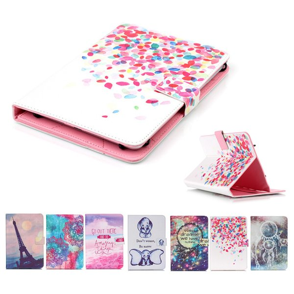 Cartoon Printed Universal 7 inch Tablet Case for HP Slate7 Extreme Slate 7 Plus Cases kickstand PU Leather Flip Cover Case