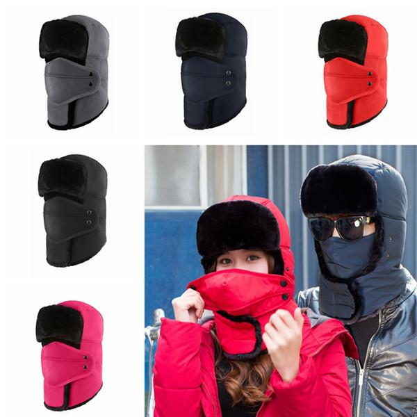 Açık Termal Kış Sıcak Şapka Moda Hood Boyun Kulak Isıtıcı Kayak Beanie Cap Kamp Yürüyüş Rüzgar tıpa Yeni TTA2000 Maske