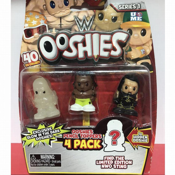 3pcs +1 Blind Figure Ooshies Glow in The Dark DC Comics/Marvel Ooshie Pencil Toppers Action Figure Collectible Kids Toy Doll Xmas Gift
