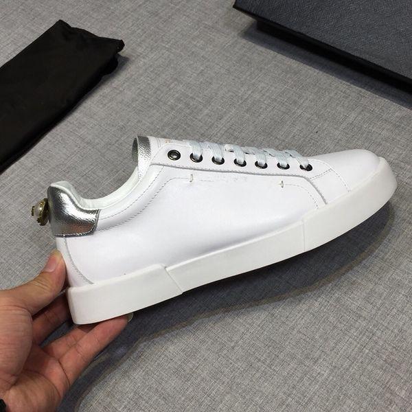 2019 Италия роскошные мужчины и женщины низкий топ плоские туфли из натуральной кожи Мужская обувь дизайнер кроссовки тренеры Rd19021705