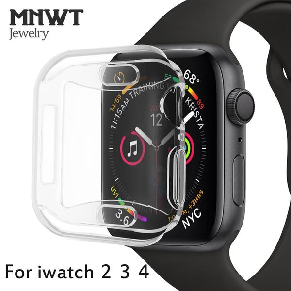 MNWT Für Apple Watch Weiche, schlanke Hülle für Apple Watch Serie 44mm 40mm 42mm / 38mm Für iwatch Serie 4 3 2 TPU Allround-Schutzhülle