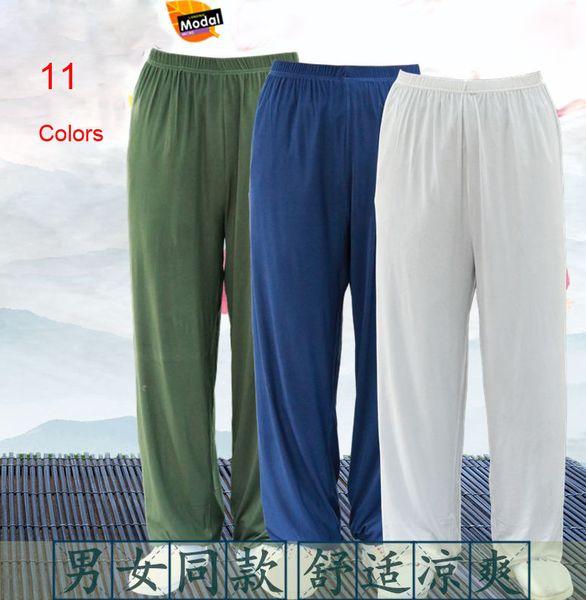 unisex KidsAdult modal gri / mavi / yeşil / siyah / tai chi pantolon taijiquan yoga pantolonları dövüş sanatları olgunlaşanlar gül