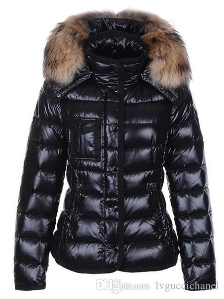 Classic Brand Women Winter Warm Down Jacket With Fur collar Feather Dress Jackets Womens Outdoor Down Coat Woman Fashion Jacket Parkas M1