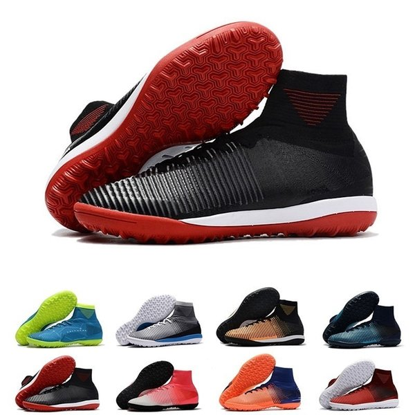 New Mercurial Superfly V Tf Mens Soccer Shoes Mercurial Proximo Ii Cr7 Tf Cr7 Pitch Dark Waterproof Football Shoes